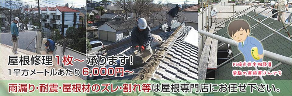 屋根修理1枚~承ります!